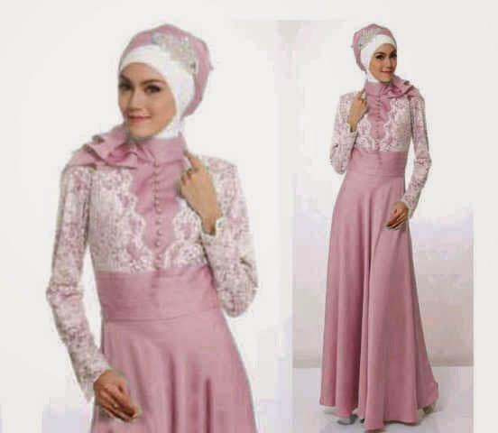 Contoh Model Baju Muslim Pesta Terbaru Pipitfashion