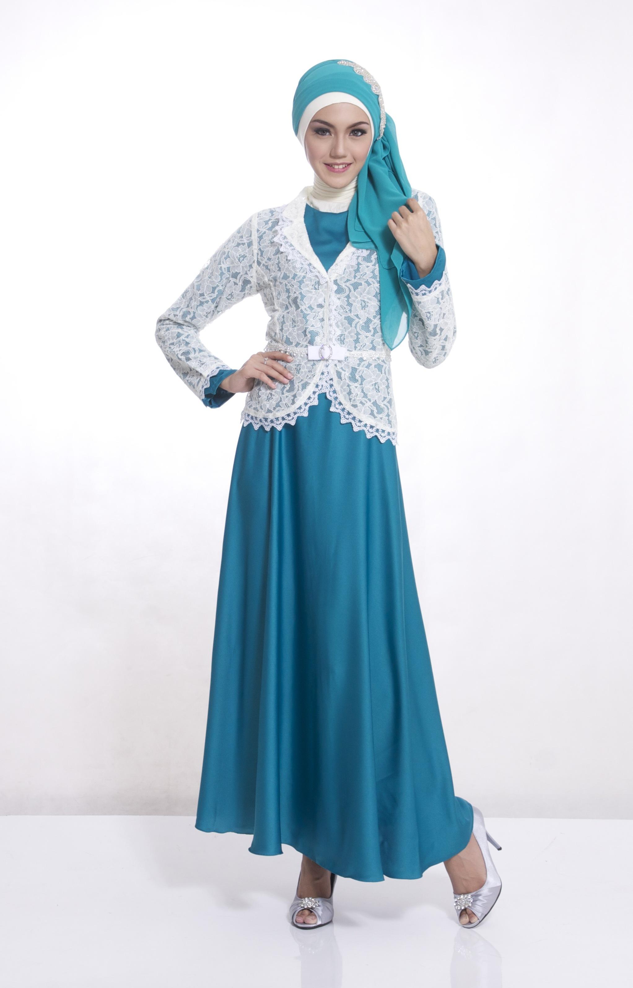 Contoh Desain Baju Muslim Pipitfashion